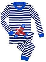 Sara's Prints Big Boys' Unisex Kids All Cotton Long John Pajamas