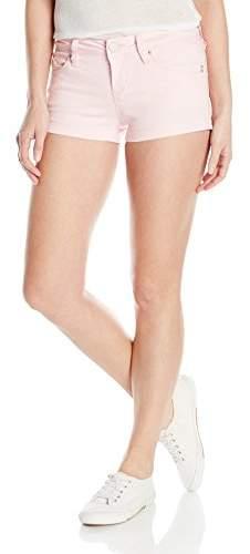 YMI Jeanswear Women's Wannabettabutt Twill Single Button Side Slit Short