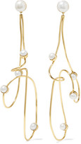 Cornelia Webb - Gold-plated Pearl Earrings