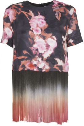 MSGM Floral And Friges T-shirt