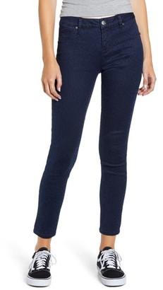 1822 Denim Tonal Leopard Print Skinny Jeans