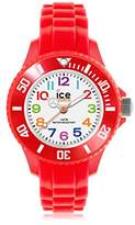 Ice Watch Ice-Mini Children's Size Ice-Watch White Dial Colourful Numbers Red MN.RD.M.S