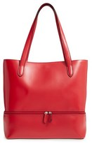 Lodis Audrey Amil Leather Commuter Tote - Red