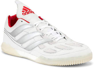 adidas Football Football Predator Precision Beckham Sneaker in White & Silver & Red   FWRD