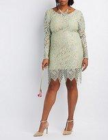 Charlotte Russe Plus Size Open Back Lace Midi Dress