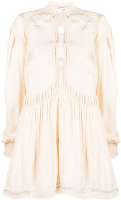 IRO Pluton ruffled shirt dress