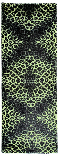 Lily & Lionel Angelina neon-leopard scarf