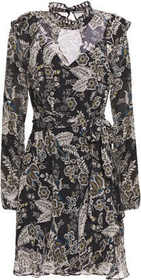Bailey 44 Viola Ruffled Floral-print Chiffon Mini Dress
