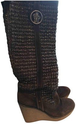 Moncler Brown Suede Boots