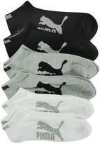 Puma 6 Pack 1/2 Terry Low Cut Socks Side Logo