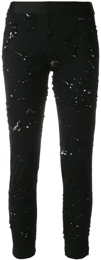 Ann Demeulemeester norwood distressed trousers