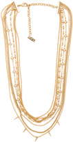 Luv Aj Multi Chain Spike Necklace