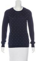 Lela Rose Beaded Wool & Silk Sweater