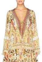 Camilla My Summer Love Tie Front Blouse