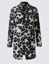 Marks and Spencer Textured Animal Print Coat