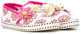 MonnaLisa floral embellished slippers - kids - Leather/Canvas/rubber - 24