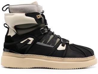 Buscemi Multi-Panel Leather Boots