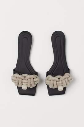 H&M Beaded Slides - Black