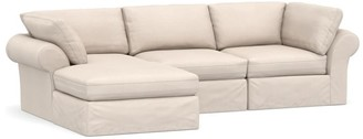 Pottery Barn PB Air Slipcovered 4-Piece Sofa with Chaise Sectional