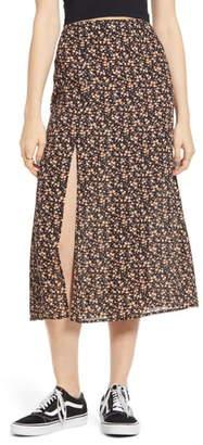 GOOD LUCK GEM Slit Front Midi Skirt