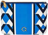 C. Wonder Graphic Geo Stripe Print Zip TopPouch