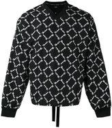 Kokon To Zai embroidered V-neck sweatshirt - men - Polyester - M