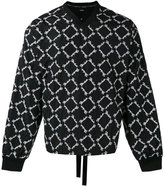 Kokon To Zai embroidered V-neck sweatshirt - men - Polyester - S