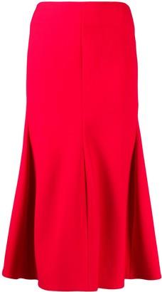 Victoria Beckham High Waist Midi Skirt