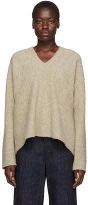 LAUREN MANOOGIAN Beige Split Sweater
