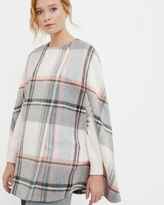 FOTINA Oversized checked cape