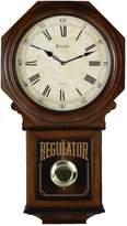 Bulova Westminster Melody Wood Schoolhouse Pendulum Wall Clock - C3543