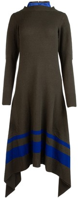 Sacai Asymmetric Knitted Dress