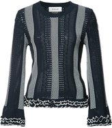 Derek Lam 10 Crosby striped knitted blouse