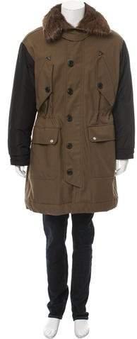 DSQUARED2 Fur-Trimmed Parka Coat
