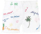 Tory Burch Enzyme Wash denim shorts - women - Cotton/Polyester/Spandex/Elastane - 25