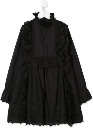 Alberta Ferretti Kids Frill Trimmed Shift Dress