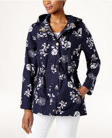 Charter Club Petite Floral-Print Hooded Utility Jacket, Created for Macy's