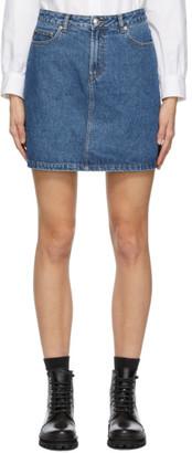 A.P.C. Blue Denim Standard Skirt