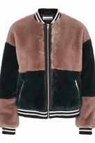 Noisy May Faux Fur Bomber Jacket