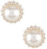 Nadri Cubic Zirconia & Faux-Pearl Clip-On Stud Earrings