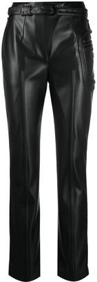 Coperni Mid-Rise Leather-Effect Trousers