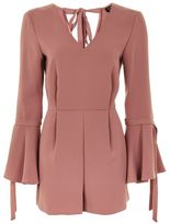 Topshop Tie sleeve playsuit