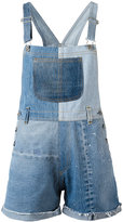 RE/DONE patchwork dungarees