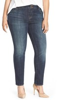 Lucky Brand Plus Size Women's 'Emma' Stretch Straight Leg Jeans
