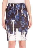 Yigal Azrouel Fern-Print Pencil Skirt