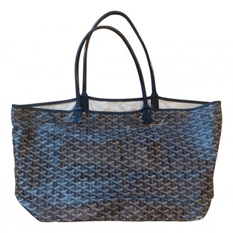 Goyard Saint-Louis Black Cloth Handbags