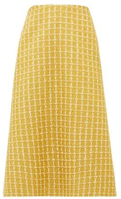Balenciaga A-line Wool-blend Lame-tweed Skirt - Womens - Yellow