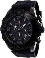 Seapro Diver Mens Black Dial Black Silicone Strap Watch
