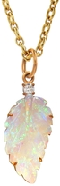 Irene Neuwirth Carved Opal Leaf Charm