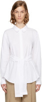 Alexander Wang White Tie Front Shirt
